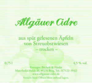 """Allgäuer Cidre """"trocken"""""""