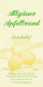 "Allgäuer Apfelbrand ""Holzfaessler"""