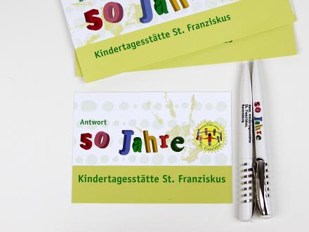 Kindergarten St. Franziskus Einladungskarte