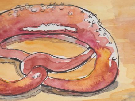 Zeichnung mit Wasserfarbe Teaser